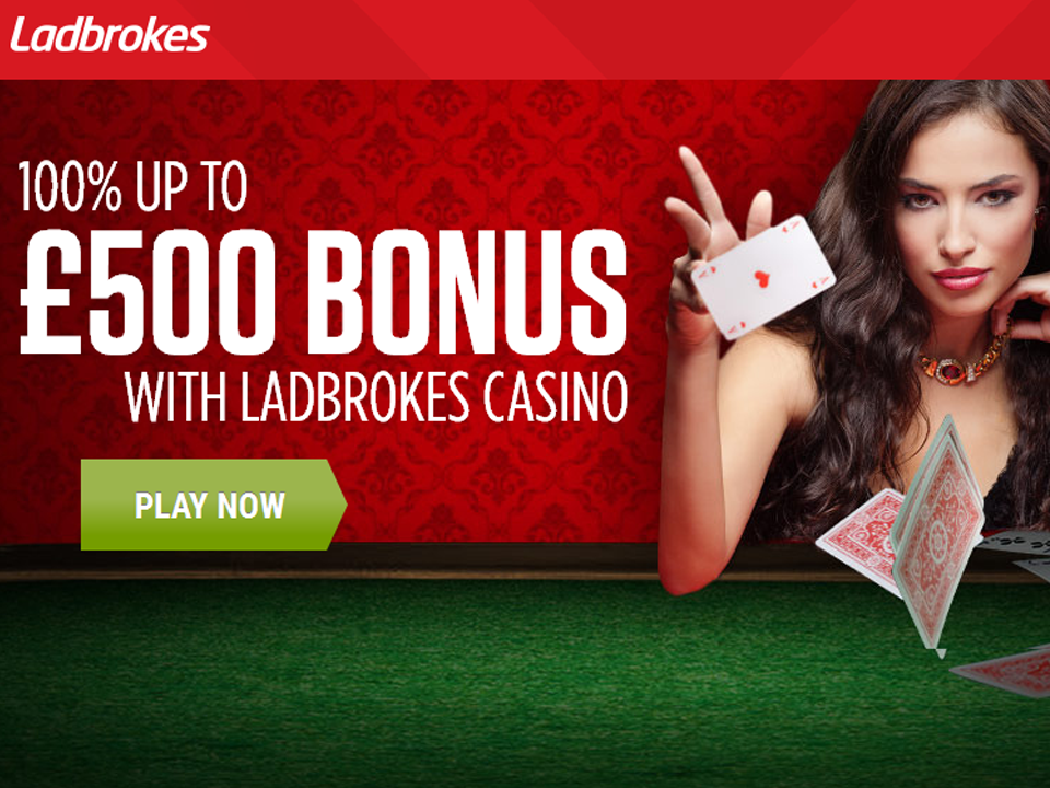 Ladbrokes Casino 100% Match Up To £500