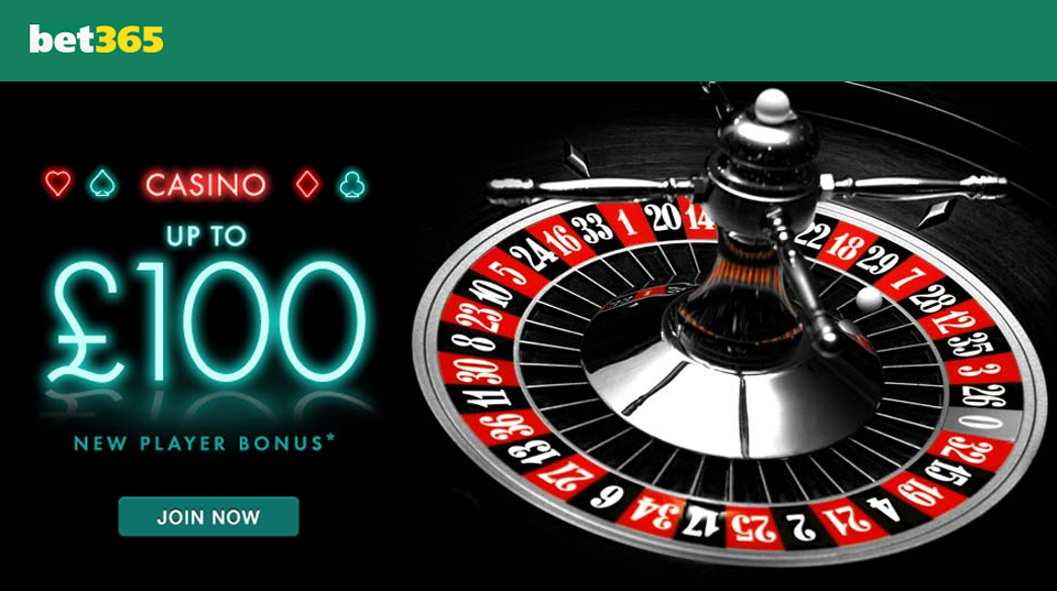 Bet365 Casino 100% Bonus Up To £100