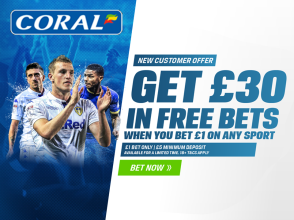 Coral - Get £30 in Free Bets When You Bet £1 On Any Sport