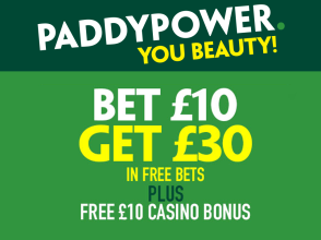 PaddyPower £30 in Free Bets