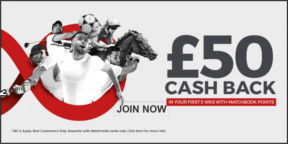 Matchbook £50 Cash Back