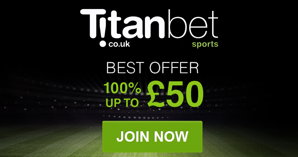 TitanBet £50 Free Bet Welcome Offer