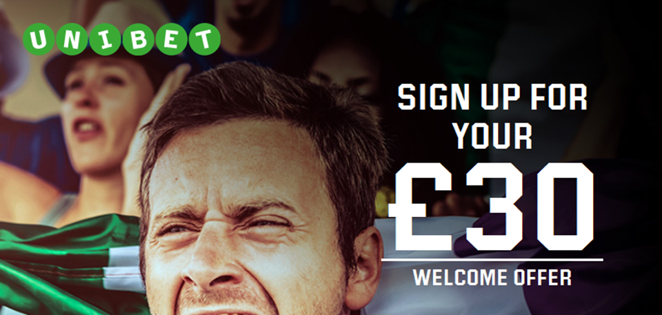 Unibet £30 Welcome Offer